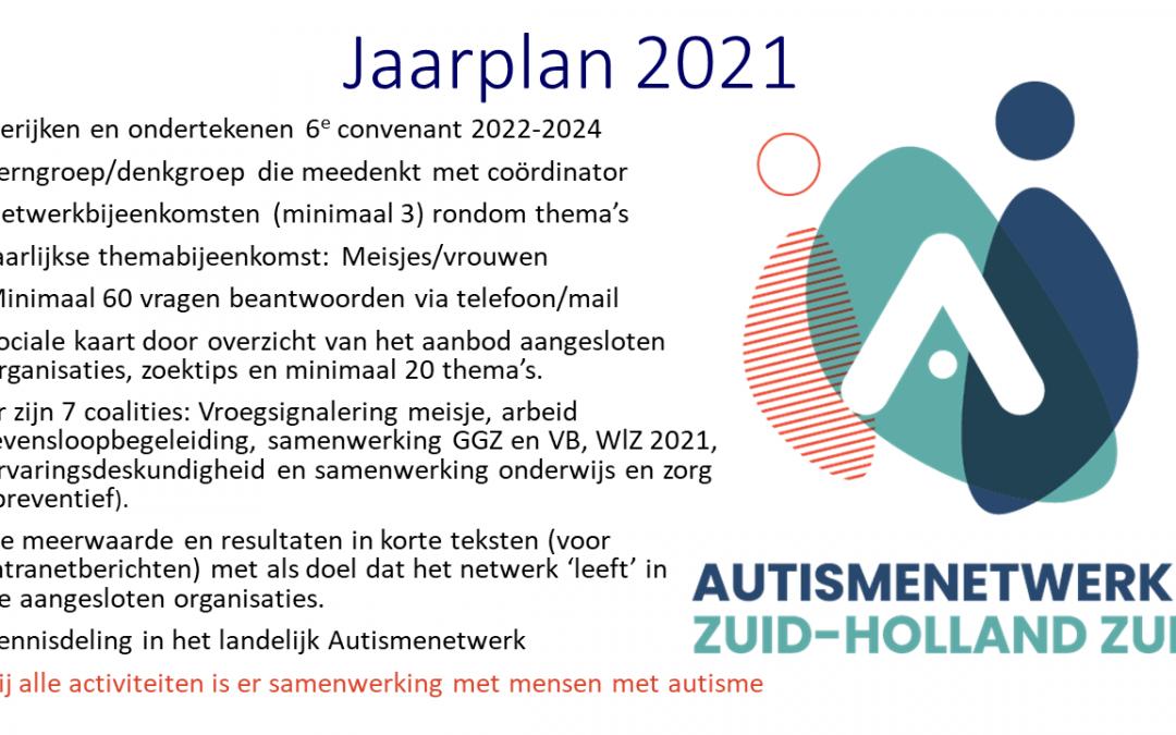 Plannen 2021 van het Autismenetwerk Zuid-Holland Zuid